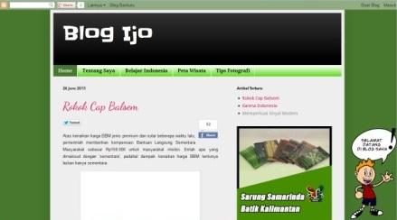 tampilan Blog Ijo